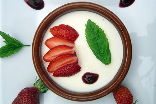 Crème à la fraise